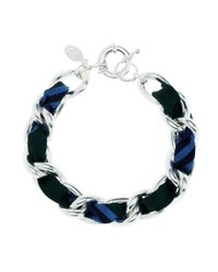 Brooks Brothers | Blue Ribbon Chain Bracelet | Lyst