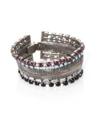 DANNIJO | Metallic Faceted Wide Bracelet | Lyst