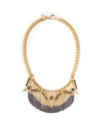 Iosselliani | Metallic Triangles Deco Fringe Necklace | Lyst