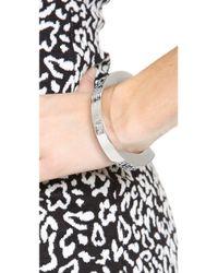 Marc By Marc Jacobs   Metallic Standard Plaque Simple Cuff Bracelet   Lyst