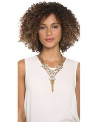 Fallon - Multicolor Roswell Cluster V Necklace - Lyst