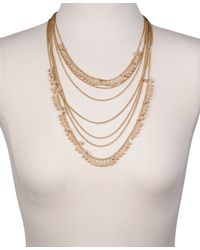 Forever 21 - Metallic Curb Chain Layered Necklace - Lyst