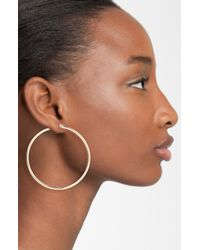 Lauren by Ralph Lauren | Metallic Large Hoop Earrings | Lyst