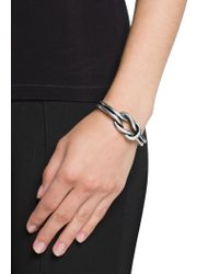 Mango - Metallic Sailor Knot Metal Bracelet - Lyst