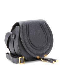Chloé - Black Marcie Small Leather Shoulder Bag - Lyst