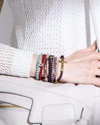 Tai - Braided Circlecharm Bracelet Purple - Lyst