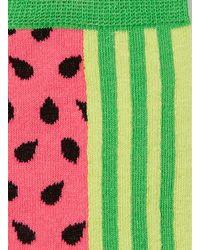 TOPMAN - Green Pink Watermelon Pattern Socks for Men - Lyst