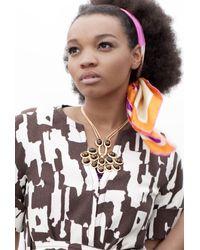 Trina Turk   Metallic Cabochon Necklace   Lyst