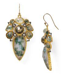 Alexis Bittar - Metallic Jardin De Papillon Mosaic Wire Moss Agate Doublet Earrings - Lyst