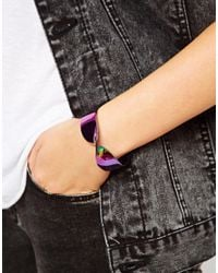 Cheap Monday - Purple Twist Bracelet - Lyst