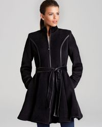 Dawn Levy - Gray Coat Fergie Skirted with Belt - Lyst