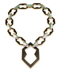 Eddie Borgo | Black Howlite New Jade and Enamel Necklace | Lyst