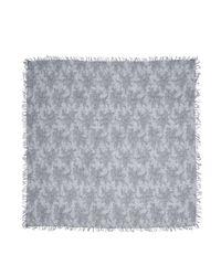 Faliero Sarti - Gray Floral-print Cashmere-silk Scarf - Lyst