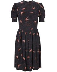 French Connection | Black Swallow Swoop Tea Dress | Lyst