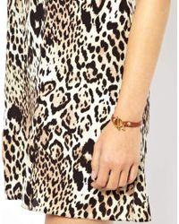 Gorjana - Brown Single Leather Bracelet with Toggle - Lyst