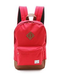 Herschel Supply Co. | Red The Heritage Backpack in Wine | Lyst