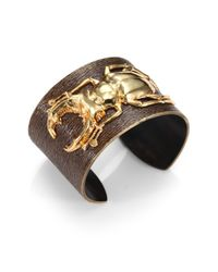 Iam By Ileana Makri | Brown 18k Goldplated Bronze Beetle Cuff | Lyst