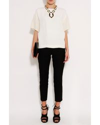 Joseph | White Matt Silk Top | Lyst