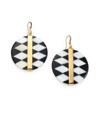 Kelly Wearstler - Black Alesandro Onyx Shell Inlay Drop Earrings - Lyst