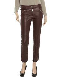 McQ | Red Skinny Leather Pants | Lyst