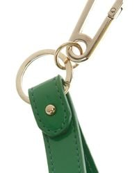McQ - Green Patentleather Safety Pin Key Fob - Lyst