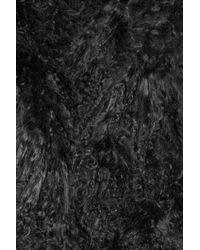 MICHAEL Michael Kors - Black Mongolian Shearling Gilet - Lyst