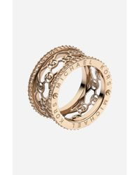 MICHAEL Michael Kors | Metallic Monogram Logo Cigar Band Ring | Lyst