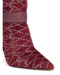 Sam Edelman - Red Mila Rhinestone Embellished Hardware Buckle Boots - Lyst