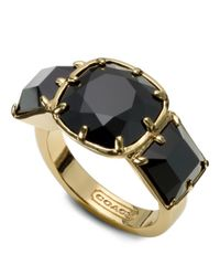 COACH | Metallic Large Square Cocktail Ring | Lyst