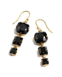COACH | Metallic Triple Stone Drop Earring | Lyst
