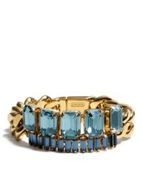 COACH - Metallic Baguette Chain Bracelet - Lyst