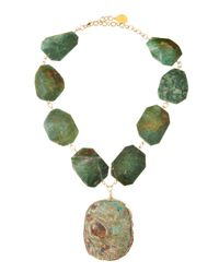 Devon Leigh - Green Jade Jasperpendant Necklace - Lyst