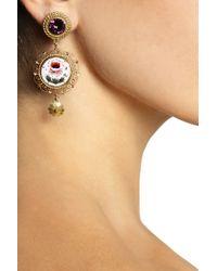 Dolce & Gabbana - Metallic Drop Bee Clip-on Earrings - Lyst