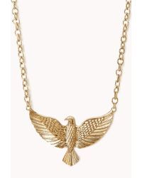 Forever 21 - Metallic Etched Eagle Necklace - Lyst