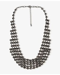 Forever 21 - Gray Rhinestone Collar Necklace - Lyst