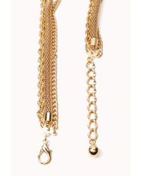 Forever 21 Metallic Layered Chain Necklace
