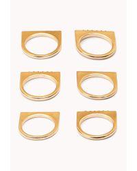 Forever 21 - Metallic Flat Top Ring Set - Lyst