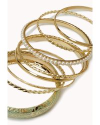 Forever 21 | Green Painted Pearlescent Bangle Set | Lyst