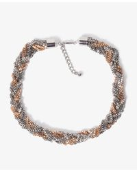 Forever 21 | Metallic Beaded Fringe Necklace | Lyst