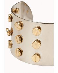 Forever 21 - Natural Screw Top Stud Cuff - Lyst
