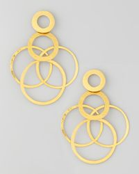 Herve Van Der Straeten | Metallic Interlocked-hoops Drop Earrings | Lyst