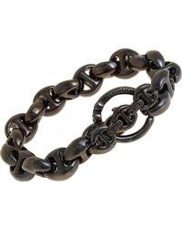 Hoorsenbuhs - Metallic Smoked Silver Large Open Link Bracelet - Lyst