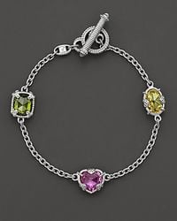 Judith Ripka - Pink 3 Stone Ambrosia Bracelet 725 - Lyst