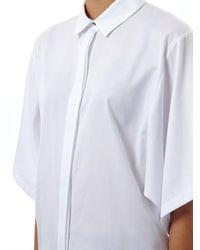 KENZO | White Volume Cotton Shirt for Men | Lyst