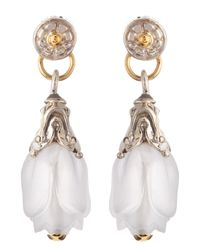 Konstantino - Metallic Iris Rock Crystal Fluted Drop Earrings - Lyst