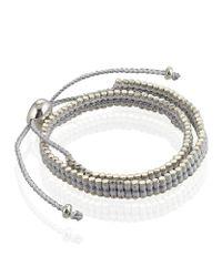 Links of London - Metallic Double Wrap Friendship Bracelet - Lyst