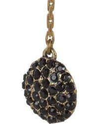 Lulu Frost - Metallic Gold Plated Crystal Earrings - Lyst