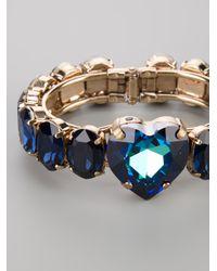 Marina Fossati - Blue Heart Shape Crystal Ring - Lyst