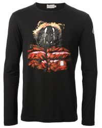 Moncler - Black Crew Neck Shirt for Men - Lyst