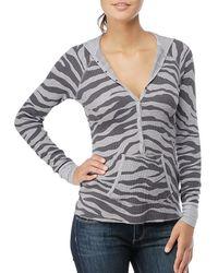Splendid | Multicolor Zebra Thermal Hoodie | Lyst